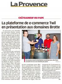 Article de La Provence sur Châteauneuf-du-pape